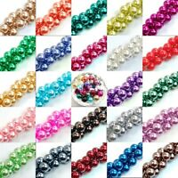 4/6/8/10MM Smooth Round Glass Pearl Findings Spacer Bead for Bracelet / Jewelry
