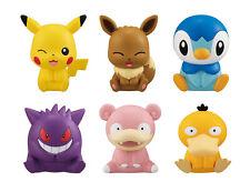 Bandai Pokemon Figure Clip 3 Gashapon Pikachu Eevee Gengar Piplup set 6 pcs