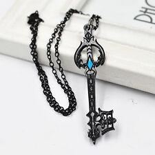 Cosplay Anime Kingdom Hearts Oathkeeper Keyblade Black Necklace Pendant Charm gb