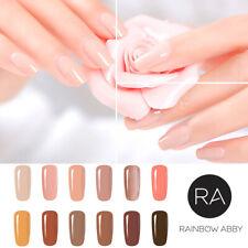 RAINBOW ABBY 8ml Nackt Farbe Soak Off UV Gellack Nagellack Nail Gel Lack Polish