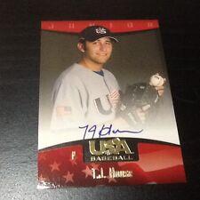 T.J. House AUTOGRAPH RC Cleveland Indians 2008 USA Baseball AUTO ROOKIE TJ Card