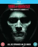 Sons Of Anarchy Complete Series Season 1 2 3 4 5 6 7 Blu-ray [Region Free] NEW