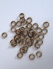 1000 pcs Bronze Tone Double Loop Open Jump Rings Jewelry Ring 5mm #43 split