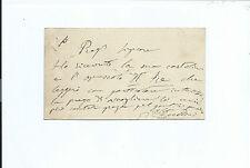 Lettera Autografo Geologo Paleontologo Giovanni Capellini Carta Geologica Italia