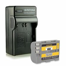 Batteria piu caricabatteria per nikon d80 nikon d90 d100 1300 mah enel3e en-el3e