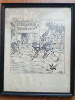 Gaar Williams Sketch Copyright 1931 by Chicago Tribune Framed and Signed