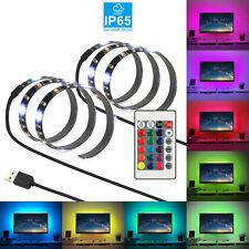USB Powered RGB Colour Change 5050 LED Strip Computer TV PC Back Light Kit 5V