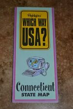 """Highlights Which Way Usa? Connecticut State Map """"Vgc"""""""