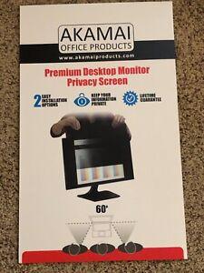 "24"" Akamai Computer Privacy Screen 16:9 - Black Security Shield - Desktop - UV"