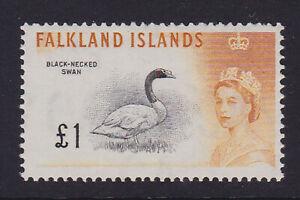 Falkland Islands. 1960. SG 207, £1 black & orange/yellow. Fine mounted mint.