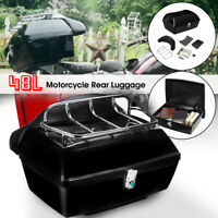 Universal Motorcycle Luggage Rear Back Top Tail Box Rack Mount Case Luggage