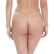 Wacoal String Thong Briefs Lightweight Breathable Size Medium Beige