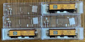(3) N Scale Atlas Meeter's Sauerkraut #3200 40' Wood Reefer Cars #'d 41516