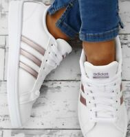 Adidas CF Advantage Women's Tennis Shoes Size 10 white/rose gold DA9524