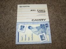 2001 Toyota Camry CE LE XLE V6 2.2L 3.0L Operator User Guide Owner Manual