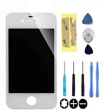 Genuine vetro ricambio per IPHONE 4/4s Bianco Anteriore Esterno Schermo Lente e strumenti
