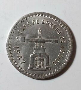 1947 Casa De Moneda Una Onza Troy Plata Pura, Silver Coin Mexico 42.2mm.26.4gr.
