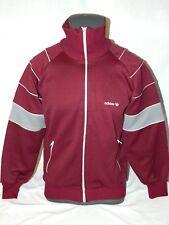 VTG Adidas track jacket Full Zip Maroon 70's 80's Trefoil Gray Hip Hop Mens M