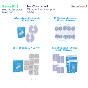 TensCare Electrode pads. Square, Circular or Rectangular Shapes, 50 - 50/90/100