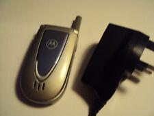 Easy semplice Senior disabilitare pensionato Motorola V66 Telefono Cellulare Sbloccato + CARICABATTERIE