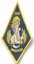 RAF No.208 Squadron Penetrate Official Crest Royal Air Force Embroidered Patch