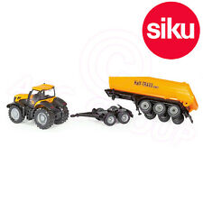 SIKU 1 87 JCB Fastrac With Tipping Trailer 1858