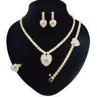 #30 HUGS &KISSES tennis Xo Set GF necklace bracelet (Ring Size 9)
