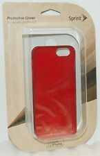 NEW Sprint Apple iPhone 5 5s SE Smart Phone BURGANDY RED Travel Shock Case cover