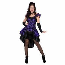 Burlesque Gothic Kostüm lila-schwarz Kleid Halloween Karneval Verkleidung