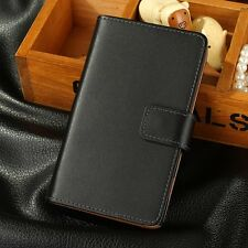 Genuine Deluxe Real Leather Flip Wallet Case Stand Cover For Nokia Lumia 920