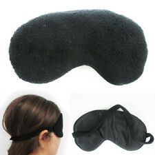 Plush Sleep Eye Mask Silk Travel Shades Blindfold Black Sleeping Cover Eyeshades