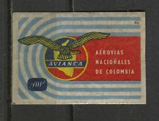 Matchbox/Airlines - no.46 Avianca Colombia Labels/Lucifer-Etiketten