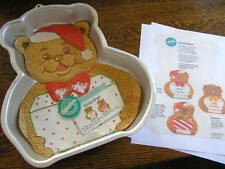 Wilton SANTA BEAR Cake Pan Mold #2105~4432 w/ Insert & Instructions