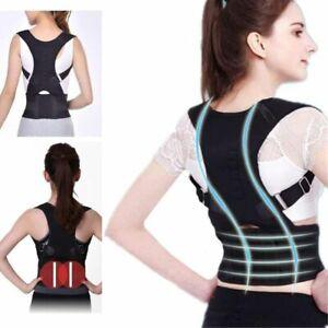 Back Posture Corrector Corset Shoulder Lumbar Bandage Spine Support Belt Magneti