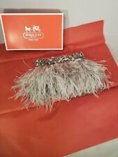 Coach Limited Edition Ostrich Feather Evening Bag Rare 61173 18731 Authentic