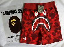 Bape A Bathing Ape Shark Color Camo Red Sweat Shorts Men