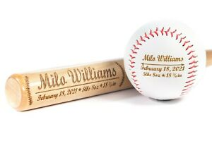 Personalized Birth Announcement Baseball Bat, Baby Boy, Newborn Gift, Nursery