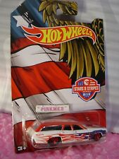 '71 PLYMOUTH SATELLITE Wagon 6/10☆White/Red/Blue☆2016 Hot Wheels STARS & STRIPES