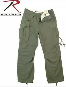 Combat Pants Large Regular Rothco US Military OD Green Rip Stop Cotton Trousers