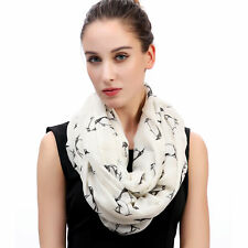 Penguin Print Womens Infinity Loop Scarf Animal Lover Gift Idea for Her