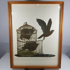 Susan Jameson Signed Limited Edition Etching The Bird Cage II 72/90 1978