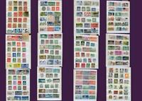 Stamp Collection From United Kingdom GB, Republic Of Ireland & United States