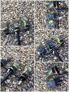 3 X Peak angling products carp fishing bite alarm pouch covers pouches in camo
