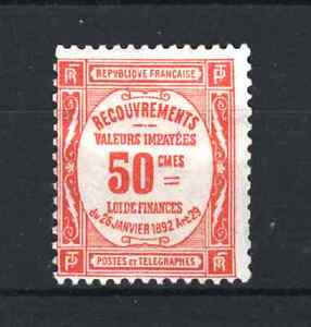 """FRANCE STAMP TIMBRE TAXE YVERT N° 47 """" 50c ROUGE """" NEUF x TB A VOIR  R167E"""