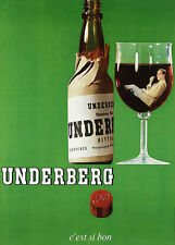 Home Wall Art Print - Vintage Advertising Poster - UNDERBERG - A4,A3