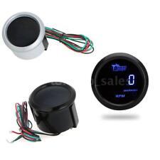 "52mm 2"" LCD Auto Car Digital Tachometer Tach Gauge Meter 0~9999RPM Blue LED N5C2"