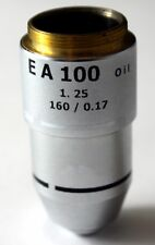 100Xoil For 160mm TUBE LENGTH, MICROSCOPE OBJECTIVE EA NA1.25 RMS THREAD (ID143)