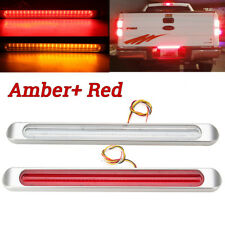 47LED Submersible Red Light Bar Stop Turn Tail 3rd brake Light Truck Trailer 17""