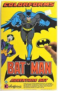 S793. DC Comics BATMAN Adventure Set by Colorforms (1989) COMPLETE & SEALED