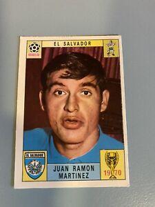 PANINI CARD WORLD CUP MEXICO 70 (1970) JUAN RAMON MARTINEZ-EL SALVADOR